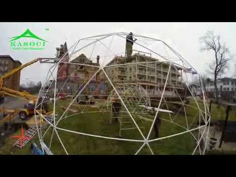6m&10m Diameter Geodesic Dome Tent Installation Video