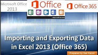 Importing And Exporting Data In Csv Files In Excel 2013 Office 365 17