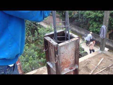 Amazing Duty Construction a Concrete Column Work - Building House Step By Step