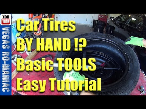 How to install car tires by hand at home with BASIC TOOLS and save $200 !