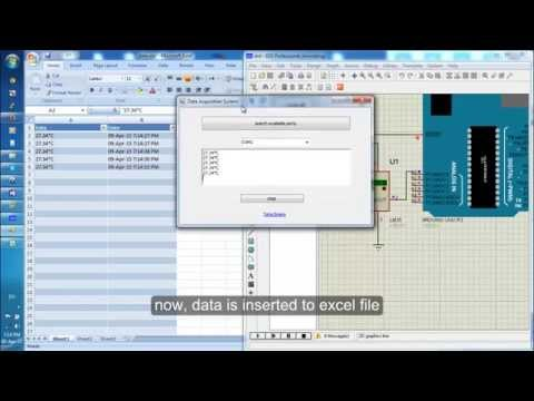 Save temperature sensor data from Arduino to excel file