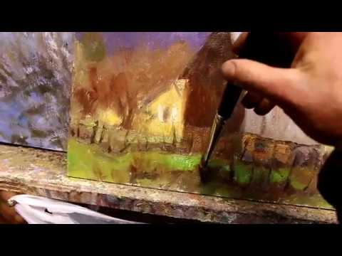 Oil painting a barn (2 minute version)