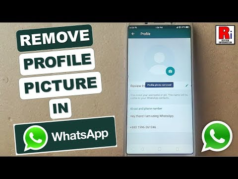 HOW TO REMOVE PROFILE PICTURE IN WHATSAPP