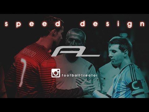Ronaldo and Messi Design ! Photoshop Football Edit - Speed art for instagram