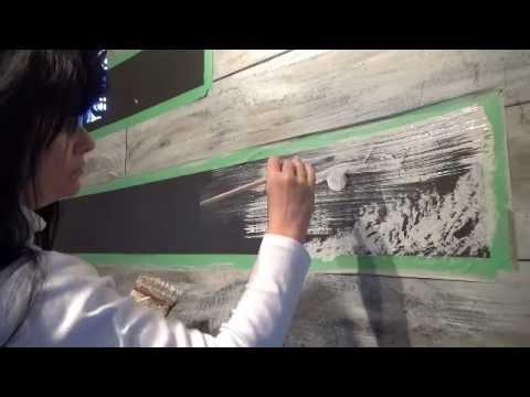 Faux Wood Grain Paneling