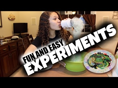 DIY: Fun & Easy Experiments To Do At Home!