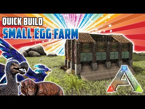 Small Egg Farm | Quick Build | Ark Survival