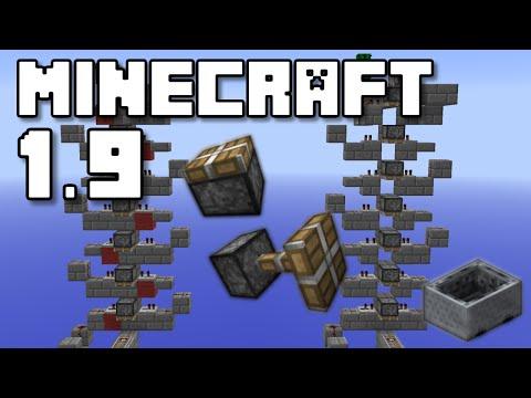 Minecraft 1.9 - Piston Minecart Elevator Tutorial