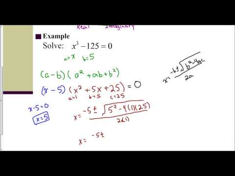 Lesson 6.5 - Introduction to Solving Cubic Equations