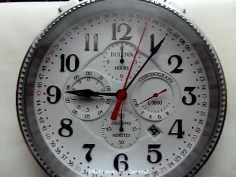 Bulova UHF Pocket Watch Slow Motion