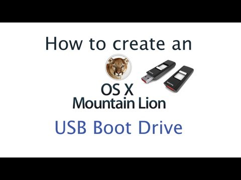 How to create an OS X Mountain Lion USB Install Drive