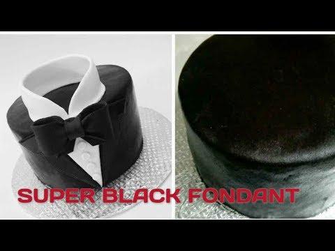 How to make BLACK MARSHMALLOW FONDANT perfectly. Homemade Black Marshmallow Fondant Recipe