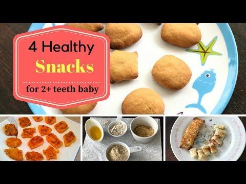 4 Healthy Teething Snacks ( for 2+ teeth baby & 1 - 2 year toddlers )