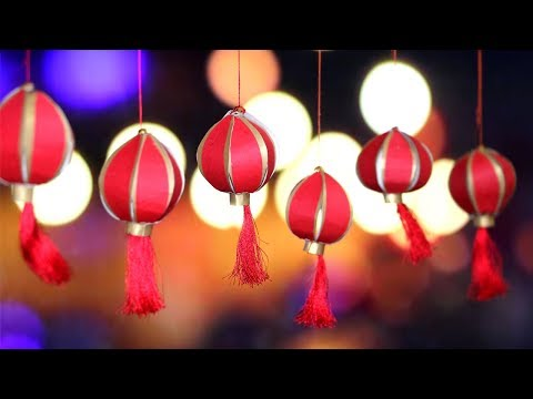 DIY Diwali Decorations | Chinese Paper Lantern | Little Crafties