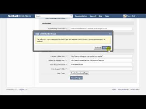 Create Facebook App, Timeline Page and Add App To Page
