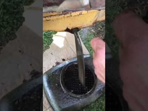 How to remove thick oil/sludge from a tractor engine