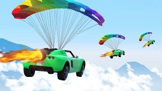 THE ROCKET PARACHUTE CAR! (GTA 5 Funny Moments)