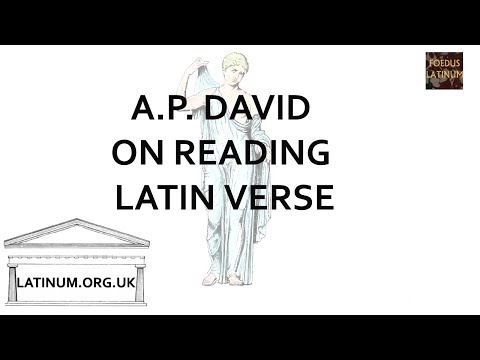Latin Accent and Ictus in Poetry - A P David's Theory
