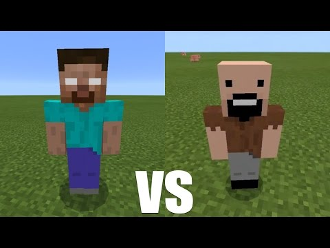 What Happens When Herobrine Fight Against Notch? - Minecraft PE (Pocket Edition)