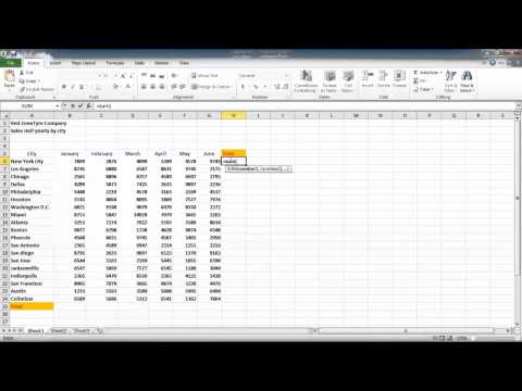 How to using Sum and AutoSum in Excel 2010