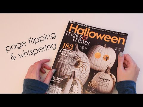 Flip Through Halloween Special; Better Homes and Gardens (ASMR whisper & page flipping)