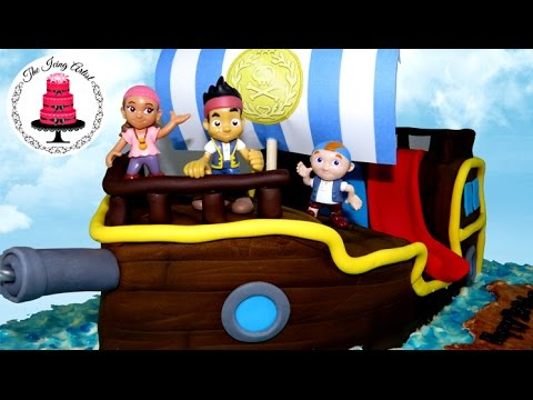Jake And The Neverland Pirates Ship Cake - How To With The Icing Artist