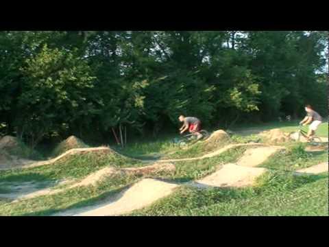 Back yard BMX pump track