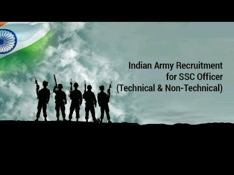 Indian Army Recruitment 2018 for SSC Officer Posts Technical Entry || Apply Online!!