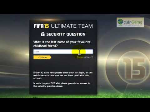 How to confirm FUT Security Answer