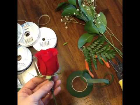 How to make your own Boutonniere or Corsage for Prom Homecoming Mothers Day Parties