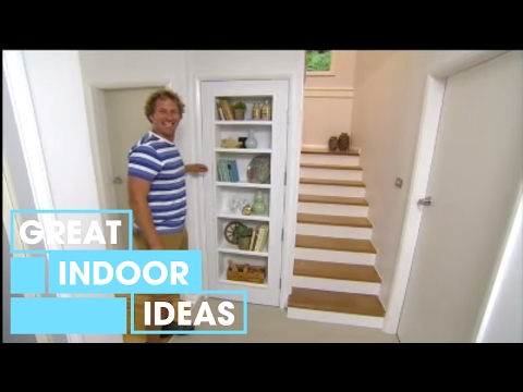 How To Build A Bookshelf In A Door | Indoor | Great Home Ideas