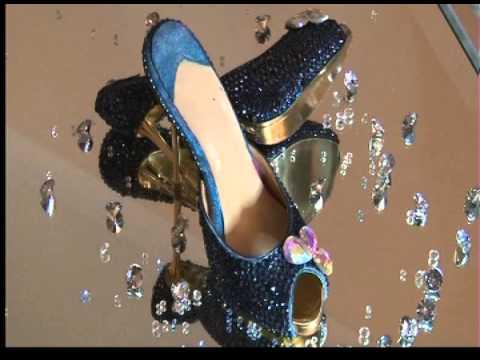 peacock blue gold heels