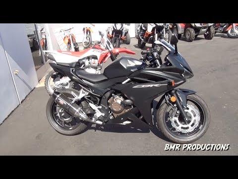 Picking up my new 2016-17 Honda CBR500R Matte Black with Mods