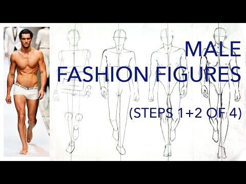 Male Fashion Figures: Steps 1 and 2 (of 4): Figuring Out the Pose & Proportions