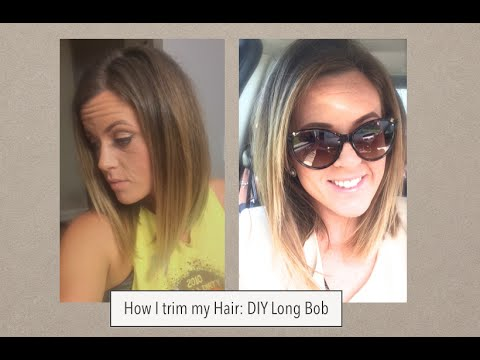 How I cut my hair: Long bob trim
