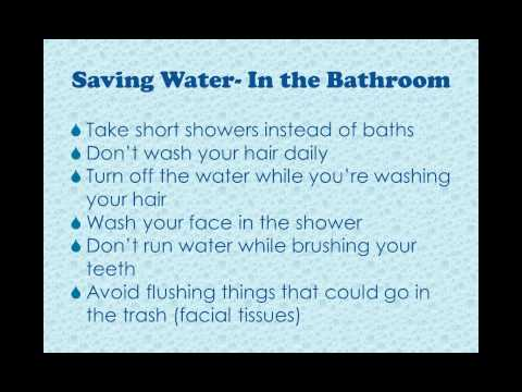 Household Hints on Saving Water