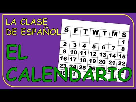 The calendar in Spanish. Months of the year. / El calendario. Los meses del año.