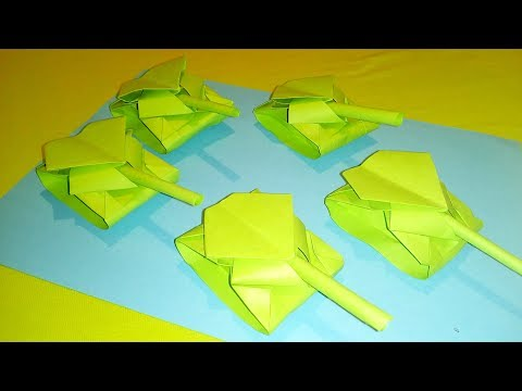 How to make Paper Tank / Origami
