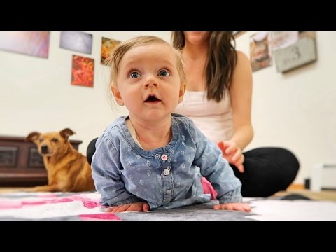 Teaching Our Baby How To Crawl