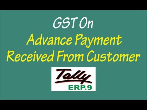 GST On Advance Payment Received & Setoff in Final Invoice TALLY ERP9