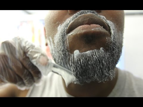 PERM VS MY FACE | How To Straighten Your Beard for Black Men