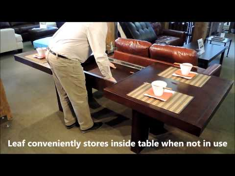 Toronto Double Pedestal Dining Table: Leaf Extension Demonstration