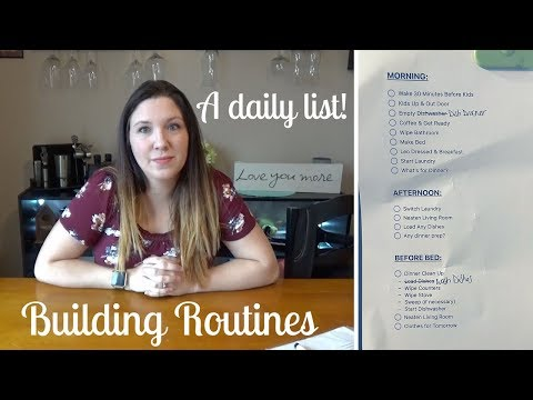 BUILDING ROUTINES   Establishing a Daily Routine