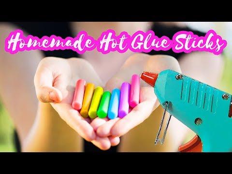 DIY Colorful Hot Glue Sticks Tutorial | How to make your own hot glue sticks | DIY Craft Tutorials