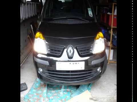 How to change Renault Modus light bulbs and remove front bumper