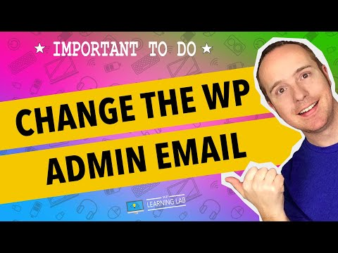 WordPress Admin Email - Where To Find & How To Change It | WP Learning Lab