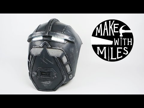 DIY Robot Mask: made from foam