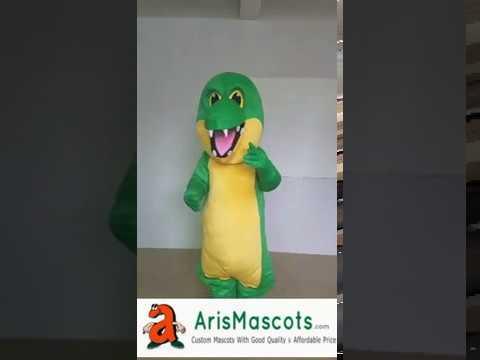 Adult size Crocodile mascot costume how to make a mascot costume
