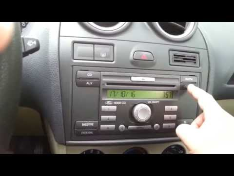 Ford Fiesta Mk6 - Updating Date and Time on the Radio
