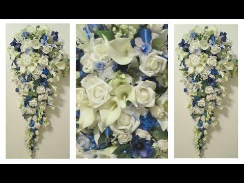 DIY Cascading Bridal Bouquet Idea | Preeti Petals